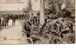 CAMPAGNE 1914 - Bataille De La Marne - Les Estafette Devant MARSON - War 1914-18