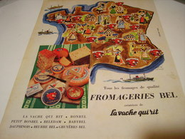 ANCIENNE AFFICHE  PUBLICITE FROMAGERIE BEL 1959 - Posters