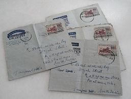 Lot Of 4 Pcs Malaysia Malaya Penang Aerogramme Cover Air Mail To India 1960 (Center Folded) - Malaysia (1964-...)