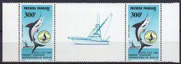 Polynésie Française - Poste Aérienne - 1986 - Yvert N° PA 190A **  - Premier Concours International De Pêche Au Marlin - Unused Stamps