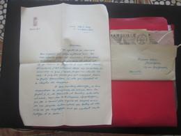 LETTRE FILIGRANE ENTÊTE MANUSCRITE A BORD C/C VILLE D'ORAN-1952-BATEAU FRENCH LINE CIE TRANSATLANTIQUE ALGÉRIE FRANÇAISE - Manuscrits