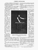 """"""" MAGIE - ILLUSION  """"  ( L'HOMME ACCUMULATEUR )   1909 - Unclassified"""