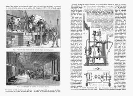 FABRICATION MECANIQUE DES BOUTEILLES   1909 - Other Collections