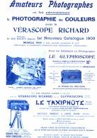 """PUB """" VERASCOPE RICHARD """" FIGUIG  FEMMES REPARANT UNE TENTE  1908 - Photographie"""