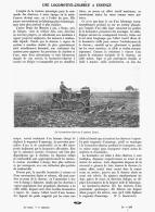 UNE LOCOMOTIVE-CHARRUE à ESSENCE     1909 - Transports