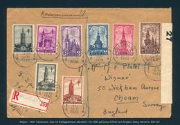 """Belgien - 1939, Tuberkulose, Satz Mit Ersttagsstempel """"Mechelen 1.XII.1939"""" - Briefe U. Dokumente"""