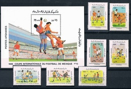 Soccer Football Afghanistan #1474/80 + Bl 81 1986 World Cup Mexico MNH ** - Coupe Du Monde