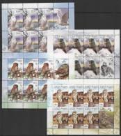 Belarus (2007) Yv. 595/98 - 4 MS -   /  Aves - Birds - Oiseaux - Vogel - Owl - Eulen - Buhos - Eulenvögel