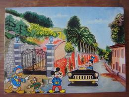 Carte Walt Disney ( Donald Duck - Riri - Mickey - Dingo ) (Editions Stephen Milano Série 115/4) - Disney
