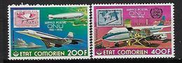 """Comores Aerien YT 110 & 111 (PA) """" Timbres ONU """" 1976 Neuf** - Comores (1975-...)"""