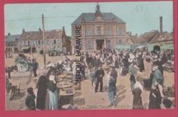 62 - ETAPLES--Place De L'Hotel De Ville Marché---colorisée-----animé - Etaples