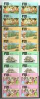 Centenaire De L'arrivée Des Indiens Aux Iles FIDJI, 4 Blocs De 4 Neufs **   Côte 12,00 Euro - Fidji (1970-...)