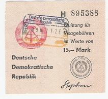 DDR Quittung über Visagebühren Gebraucht - Documents Historiques