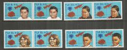 Enfants Des Iles FIDJI,  8 Timbres Neufs ** En Paires Se-tenant - Fidji (1970-...)