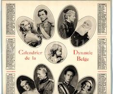 Kalender / ROYALTY / Belgique / België / Koningshuis / Famille Royale / 1936 / Size: 24.20 X 32.30 Cm. / 1 Stuk, 2 Scans - Calendriers