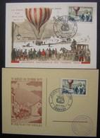 1955 Forbach Journée Du Timbre La Poste En Ballon Lot De 2 Cartes Maximum, Très Bon état ! - Maximum Cards