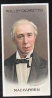 Vieux Papiers > Chromos & Images > Non Classés Wills S Cigarettes  MUSICAL CELEBRITES SIR GEORGE MAC FARREN N°8 - Old Paper