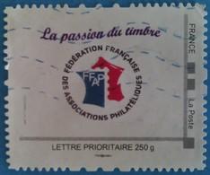 France : La Passion Du Timbre (fédération Française Des Associations Philatéliques) Lettre Prioritaire 250g Oblitéré - France