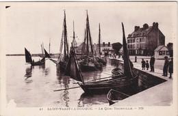 SAINT-VAAST-LA-HOUGUE - Le Quai Tourville - Bateaux De Pêche - Saint Vaast La Hougue