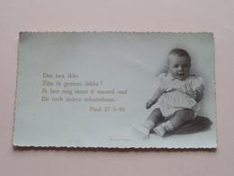 PAUL 27-5-1946 ( Photo Pype ) ( Dat Ben Ikke - Zijn Ik Geenen Dikke ?......)  ( Voir Photo Detail ) ! - Birth & Baptism