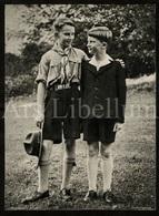 Large Card / Photo Document / ROYALTY / Belgique / België / Prince Baudouin / Prins Boudewijn / Scouts / Prince Albert - Scoutisme