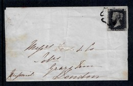 GREAT BRITAIN - 1840  1d BLACK 4 MARGINS  ON COVER  GOOD QUALITY - Briefe U. Dokumente