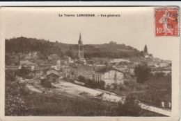 Le Tourne LANGOIRAN : Vue Générale. (carte Glacée.) Vue Sur La Gare. - La Réole