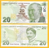 Turkey 20 Lira P-224b 2009 (2012) (Prefix C) UNC - Turquie