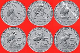 Burundi Set Of 6 Coins For 5 Francs 2014 - Burundi