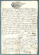 Documents Historiques TIMBRE DE DIMENSION 1790 GABELLE GEN  Ecu Couronné Sardaigne Savoie Fiefs Marthod - Documents Historiques