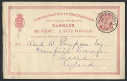 1dn.Postcard. Has The Mail Passed 1895-1905? Copenhagen (Denmark) Sussex (England). A Calendar Stamp Without A Year. - 1864-04 (Christian IX)