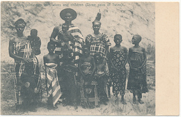 A Native Gentleman With Wives And Children (Three Pairs Of Twins). Family, GHANA - GOLD COAST, By Duverney's - Ghana - Gold Coast