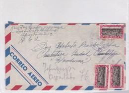 SOBRE ENVELOPE AIRMAIL CIRCULEE. GUATEMALA 1954- BLEUP - Guatemala