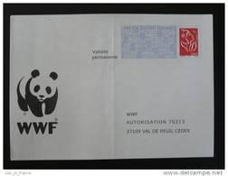 PAP Réponse Marianne De Lamouche WWF Panda - Verso 0500780 - N° Intérieur 09 10 11 12/66/05 - Entiers Postaux