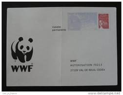 """PAP Réponse """"Luquet RF"""" WWF Panda Verso 0401230 Intérieur 52104 - Entiers Postaux"""