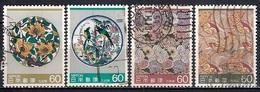 Japan 1984 - Traditional Crafts - Kutani Porcelain Plates And Nishijin Silk Weavings - Usados