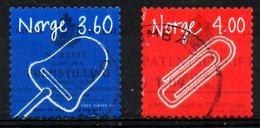 NORVEGE. N°1261-2 Oblitérés De 1999. Inventions/Couteau-pelle à Fromage/Trombone. - Norwegen