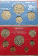 Tonga 2 Sets 1 2 5 10 20 50 Seniti 1 2 Paanga 1967 Tupou III IV Unc - Tonga