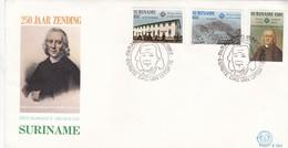 250 JAAR ZENDNG JOHANN LEONHARDT DOBER. FDC SURINAME YEAR 1982- BLEUP - Surinam