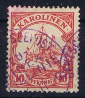 Deutsch Karolinen : Mi  Deutsche Seepost Neu Guinea Zweiglinie, Violet - Kolonie: Karolinen
