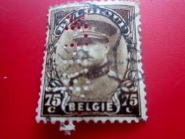 """BELGIQUE BELGIE  Perforé, """" F.H.K. """"Perforés,Perfin Perfins,Perforatis,Perforado,Perforated,Perforata,Durchlöche. - 1934-51"""