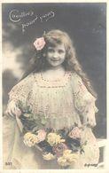 Thèmes - Enfants - Fillette - Fleurs - Portraits