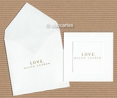 CC Carte Parfumée 'RALPH LAUREN' 'LOVE,' Perfume Card BLOTTER - Modern (from 1961)
