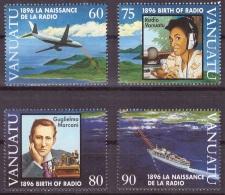 Vanuatu 1996 - MNH ** - Télécom - Marconi - Avions - Bateaux - Michel Nr. 1010-1013 Série Complète (van199) - Vanuatu (1980-...)