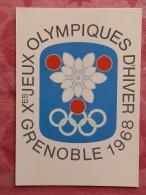 Dep 38 , Cpm EMBLEME OFFICIEL  , Xes Jeux Olympiques D'Hiver Grenoble 1968  (07.22.025) - Grenoble