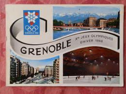 Dep 38 , Cpm GRENOBLE , Xes Jeux Olympiques D'Hiver Grenoble 1968 , 38.150 , Multivues (07.22.057) - Grenoble