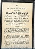 DEV48/ °WIJNEGEM 1858 + ANTWERPEN 1934  EDUARD PEELMANS SERG.MAJOOR DER BURGERWACHT - Religion & Esotericism
