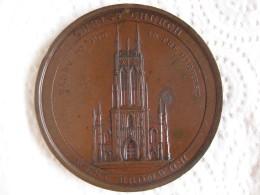 Médaille Pose De La Première Pierre De L église Christ Church De West Bromwich, Lord Dartmouth 1821 - Unclassified