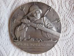 Médaille Marine Marchande, Offert à P. BUBEN Directeur E.A.M La Rochelle, Par SIMON - France