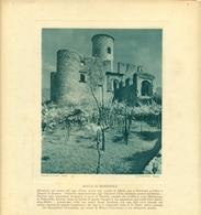 MONTISOLA  - IMMAGINE RITAGLIATA DA CALENDARIO DEGLI ANNI 30  - CM 23 X 23 - Immagine Tagliata